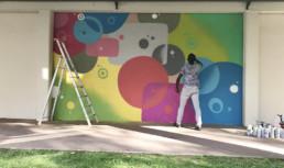 street artist, painting, art, colors, graffiti art