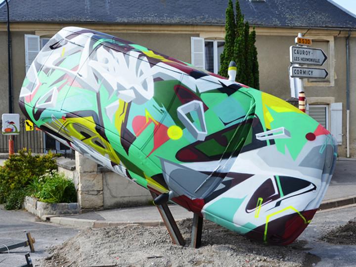 car, motor, vehicle, art, street art, graffiti, colors