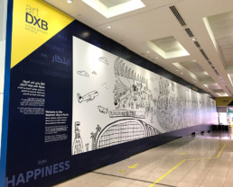 Art, DXB, Dubai, Airports, initiative, illustration
