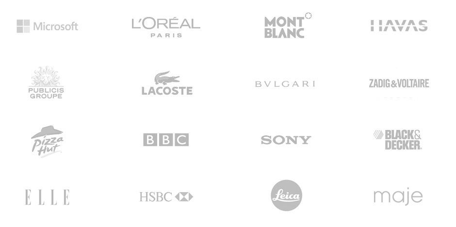 medias, brands, clients, events , interior design