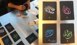 letters, wallet, mont-blanc , personalized, custom, graffiti