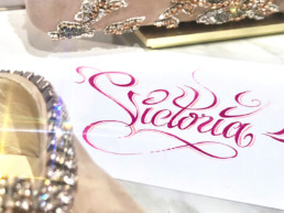 Victoria, calligraphy, Jimmy Choo, Luxury, Art, Lettering, hand lettering