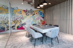 Meeting room, montblanc, graffiti, street art, decoration, original