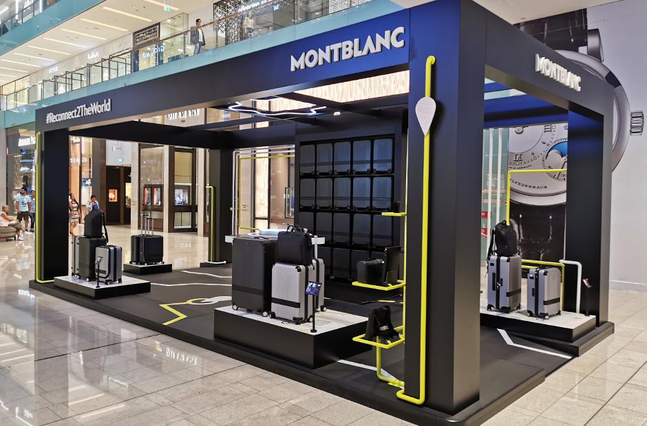 Montblanc, Pop Up Store, travel, luggage, Dubai Mall, shop, Abu dhabi