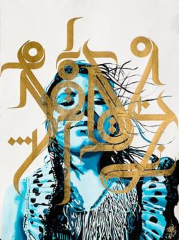 Yann Chatelain, portrait, French, calligraphy