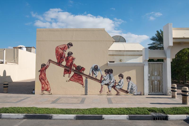 Dubai, street art, decorate, style, wall, design, artwork