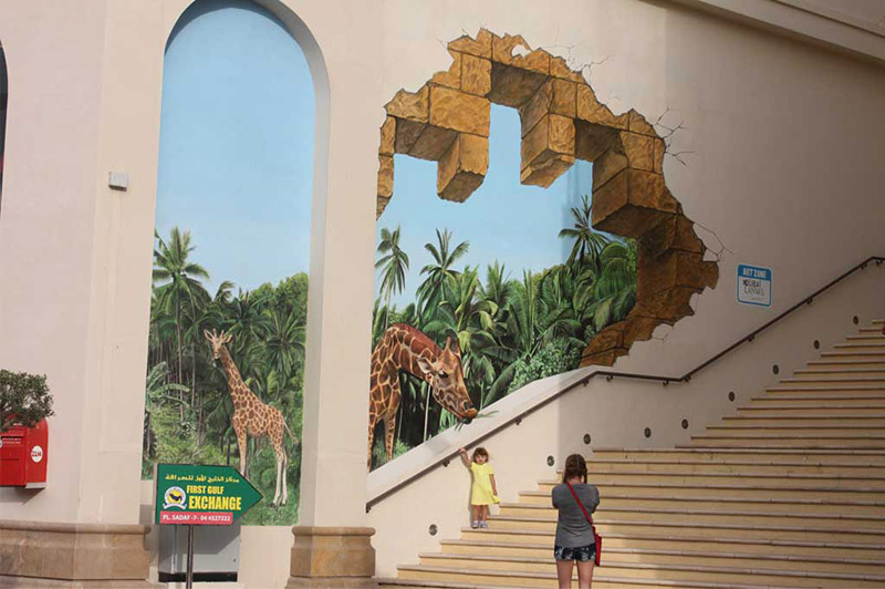 Graffiti, Street Art, illusion, Dubai, Abu Dhabi